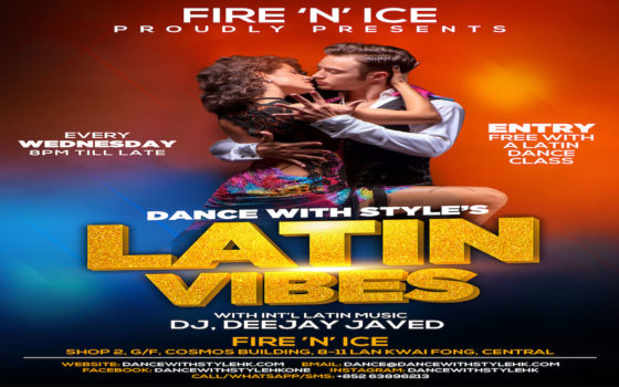 Latin Vibes Salsa/Bachata Party Every Wednesday at Fire 'N' Ice. Entry Free With A Free Bachata Dance Class!